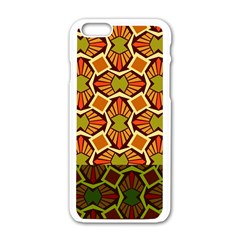 Geometry Shape Retro Trendy Symbol Apple Iphone 6/6s White Enamel Case