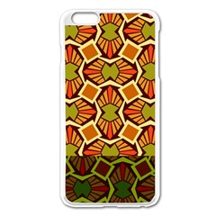 Geometry Shape Retro Trendy Symbol Apple Iphone 6 Plus/6s Plus Enamel White Case