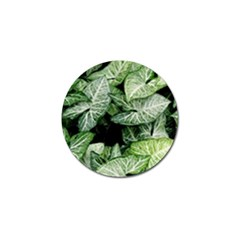 Green Leaves Nature Pattern Plant Golf Ball Marker (4 Pack)