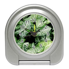 Green Leaves Nature Pattern Plant Travel Alarm Clocks
