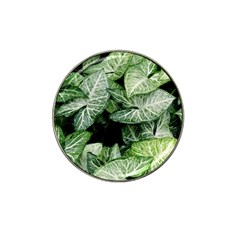 Green Leaves Nature Pattern Plant Hat Clip Ball Marker (4 Pack)