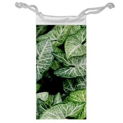 Green Leaves Nature Pattern Plant Jewelry Bag