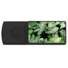 Green Leaves Nature Pattern Plant Usb Flash Drive Rectangular (4 Gb)