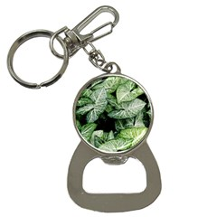 Green Leaves Nature Pattern Plant Button Necklaces