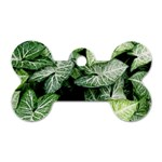 Green Leaves Nature Pattern Plant Dog Tag Bone (Two Sides) Front