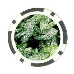 Green Leaves Nature Pattern Plant Poker Chip Card Guard