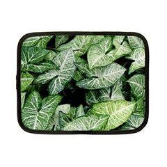Green Leaves Nature Pattern Plant Netbook Case (small)