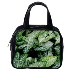 Green Leaves Nature Pattern Plant Classic Handbags (one Side)