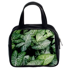 Green Leaves Nature Pattern Plant Classic Handbags (2 Sides)