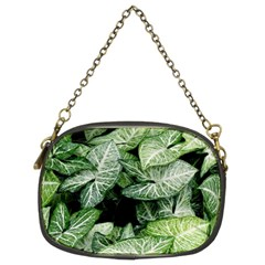 Green Leaves Nature Pattern Plant Chain Purses (two Sides)