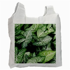 Green Leaves Nature Pattern Plant Recycle Bag (two Side)
