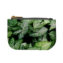 Green Leaves Nature Pattern Plant Mini Coin Purses