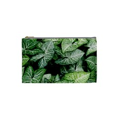 Green Leaves Nature Pattern Plant Cosmetic Bag (small)