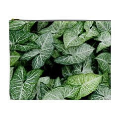 Green Leaves Nature Pattern Plant Cosmetic Bag (xl)