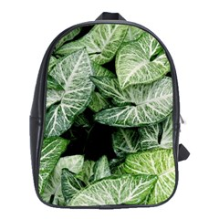 Green Leaves Nature Pattern Plant School Bags(large)