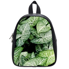 Green Leaves Nature Pattern Plant School Bags (Small)
