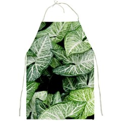 Green Leaves Nature Pattern Plant Full Print Aprons