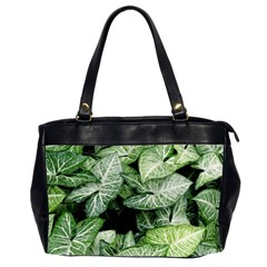 Green Leaves Nature Pattern Plant Office Handbags (2 Sides)