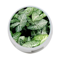 Green Leaves Nature Pattern Plant 4 Port Usb Hub (two Sides)
