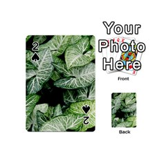 Green Leaves Nature Pattern Plant Playing Cards 54 (mini)