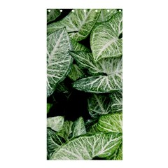 Green Leaves Nature Pattern Plant Shower Curtain 36  X 72  (stall)