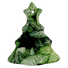 Green Leaves Nature Pattern Plant Ornament (christmas Tree)