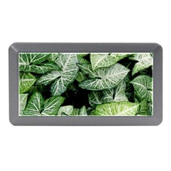 Green Leaves Nature Pattern Plant Memory Card Reader (mini)