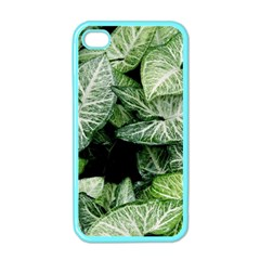 Green Leaves Nature Pattern Plant Apple Iphone 4 Case (color)