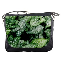 Green Leaves Nature Pattern Plant Messenger Bags