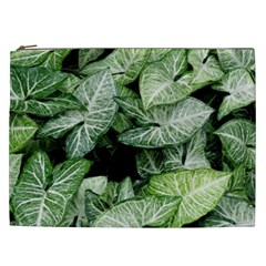 Green Leaves Nature Pattern Plant Cosmetic Bag (xxl)