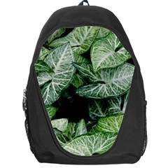 Green Leaves Nature Pattern Plant Backpack Bag