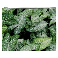 Green Leaves Nature Pattern Plant Cosmetic Bag (XXXL)