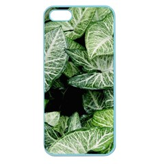 Green Leaves Nature Pattern Plant Apple Seamless Iphone 5 Case (color)