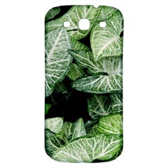 Green Leaves Nature Pattern Plant Samsung Galaxy S3 S Iii Classic Hardshell Back Case