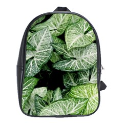 Green Leaves Nature Pattern Plant School Bags (xl)
