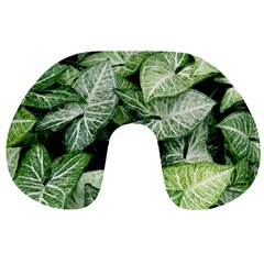 Green Leaves Nature Pattern Plant Travel Neck Pillows