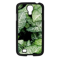 Green Leaves Nature Pattern Plant Samsung Galaxy S4 I9500/ I9505 Case (black)