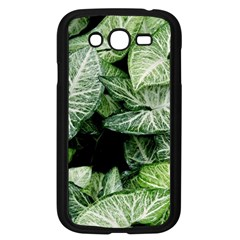 Green Leaves Nature Pattern Plant Samsung Galaxy Grand Duos I9082 Case (black)