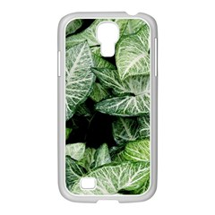 Green Leaves Nature Pattern Plant Samsung Galaxy S4 I9500/ I9505 Case (white)
