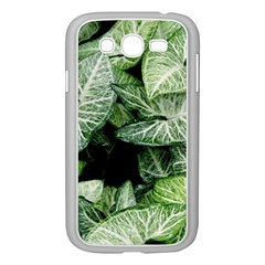 Green Leaves Nature Pattern Plant Samsung Galaxy Grand Duos I9082 Case (white)