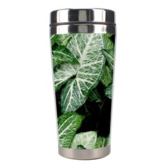 Green Leaves Nature Pattern Plant Stainless Steel Travel Tumblers