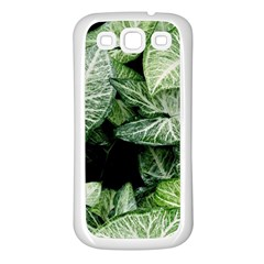 Green Leaves Nature Pattern Plant Samsung Galaxy S3 Back Case (white)