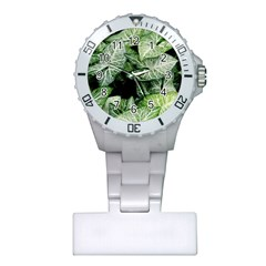 Green Leaves Nature Pattern Plant Plastic Nurses Watch