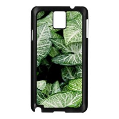 Green Leaves Nature Pattern Plant Samsung Galaxy Note 3 N9005 Case (black)