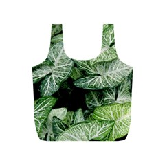 Green Leaves Nature Pattern Plant Full Print Recycle Bags (s)