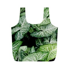 Green Leaves Nature Pattern Plant Full Print Recycle Bags (m)