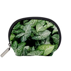 Green Leaves Nature Pattern Plant Accessory Pouches (small)