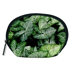 Green Leaves Nature Pattern Plant Accessory Pouches (medium)