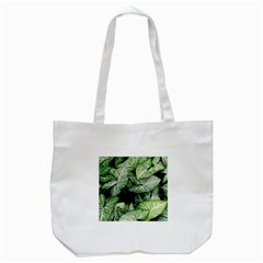 Green Leaves Nature Pattern Plant Tote Bag (white)