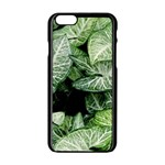 Green Leaves Nature Pattern Plant Apple iPhone 6/6S Black Enamel Case Front